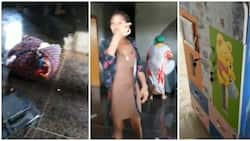 Lady filmed beating husband, goes with mom to pack her belongings from his house (video)