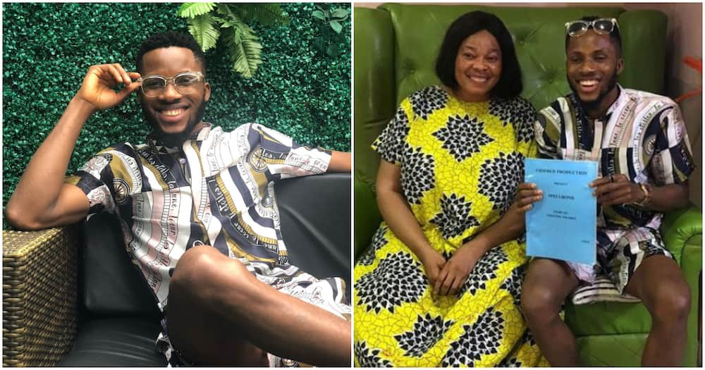 BBNaija 2020 star BrightO bags movie role with veteran actress Chinyere Wilfred (photo, videos)