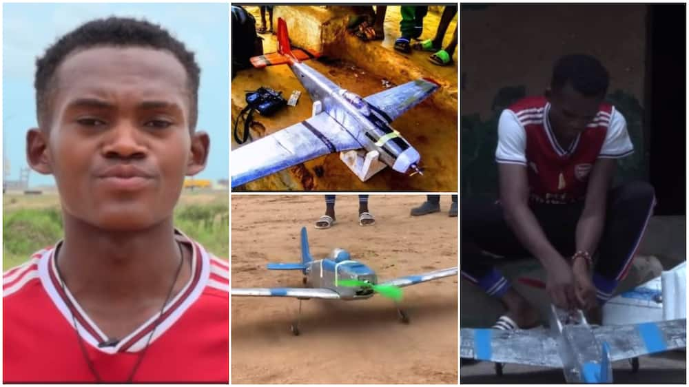 Young Igbo Man From Enugu Builds Aeroplane, Flies It in Viral Video As He Begs for Govt Support