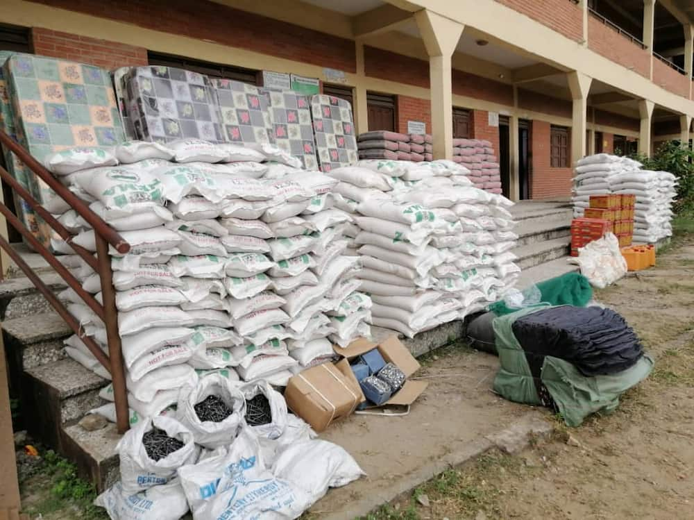 Some of the materials donated by Egberongbe to his constituents Credit: Mufutau Egberongbe media
