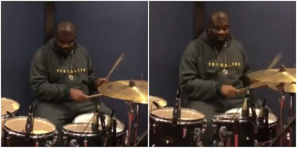 Jack of All Trades: Mavin Boss Don Jazzy Shows Off Impressive Drum Skills in Jam Session