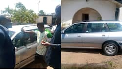 Huge surprise as top Nigerian club presents newly appointed coach Peugeot 406 as official car (photos)