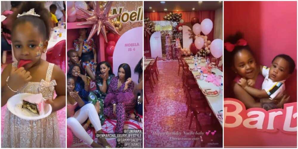 Noella at 4: Beautiful photos from Barbi-themed birthday party of Bola Tinubu's granddaughter