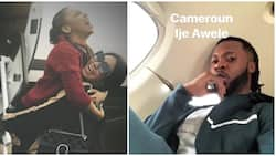 Romantic! Flavour takes Anna Banner to Cameroon weeks after welcoming 3rd baby with Sandra Okagbue (photos)