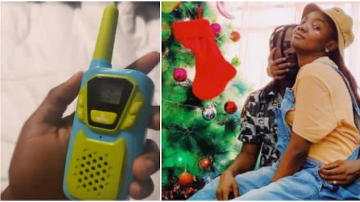 Simi shows off walkie-talkie for easy access to Adekunle Gold instead of yelling his name in their home