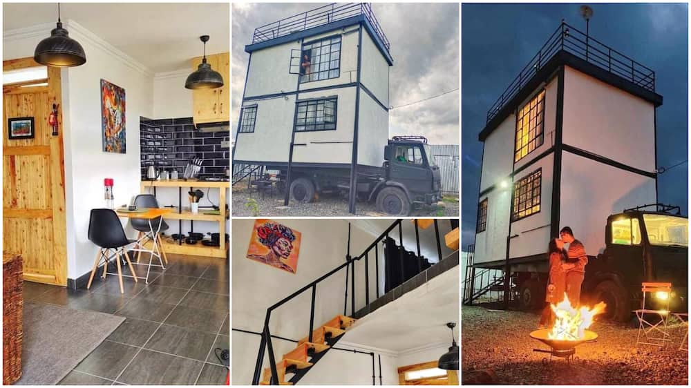 House built on a truck surprises people, it has comfortable living room, beautiful toilet