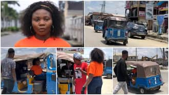 Female Nigerian Graduate Who Rides Keke for a Living Speaks in Video, Reveals How Much She Makes Daily