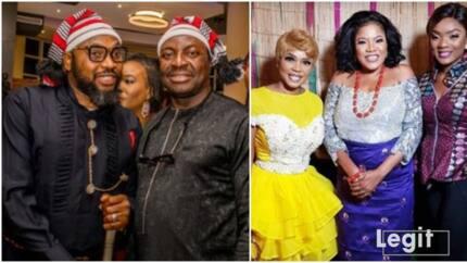 Nigerian celebrities stun in traditional attire for Smash movie premier