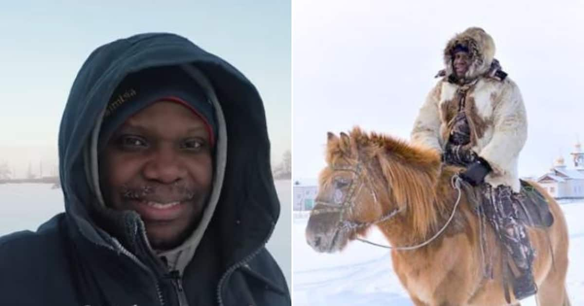Image result for Mark Babatunde, the only African living in the world's coldest place, shares chilling experience