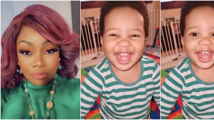 He finally knows how powerful his 6-toothed smile is: OAP Toolz shares adorable video of 2nd son