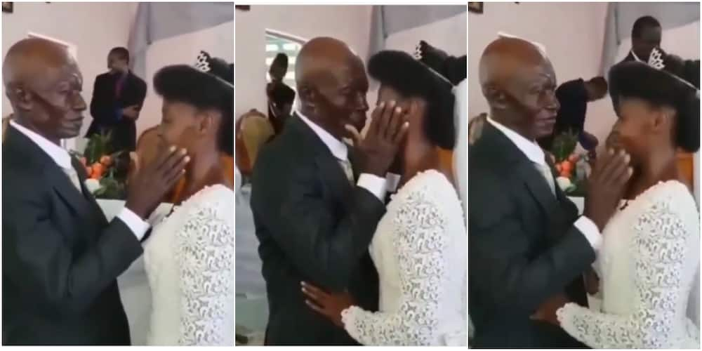 Grandpa and His Young Bride Send Social Media into Frenzy with Their Kisses, Video Goes Viral