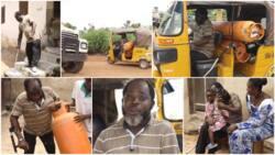 My mama abandon my papa: Man who rides keke to deliver gas despite his leg condition tells his story