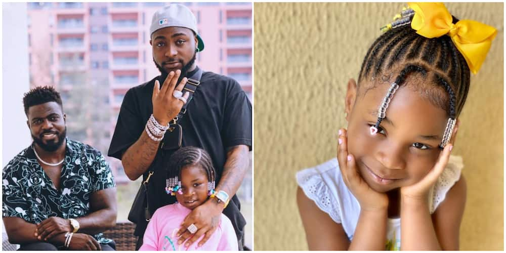 Davido Goes All Out for Daughter Imade, Buys Customised Pendant Worth Millions for Her