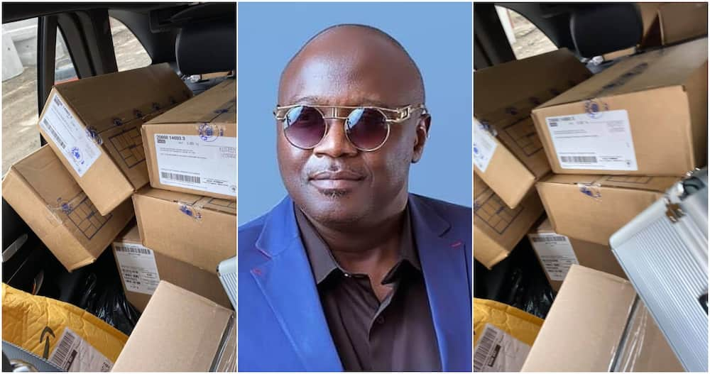 Yinka Farinde: Nigerian man gives out boxes of frozen chicken