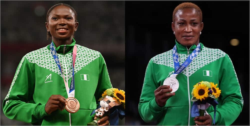 Tokyo 2020: Nigeria Climb To 64th On Medals Table After Silver And Bronze Medals In Wrestling, Long Jump