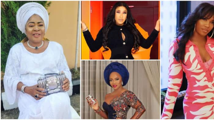 Salawa Abeni, Tiwa Savage and 3 others who have been blackmailed with their unclad photos, intimate tapes
