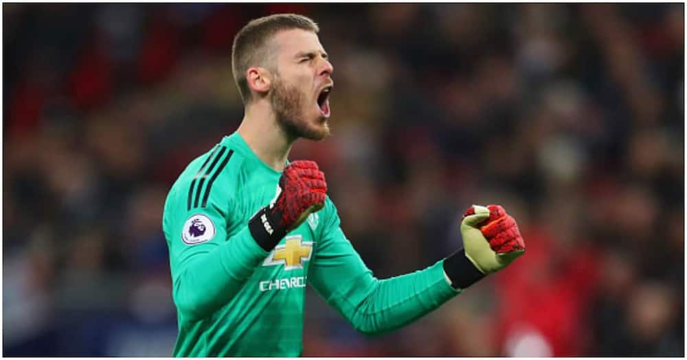 De Gea reacts while in action for Man United. Photo: Getty Images.