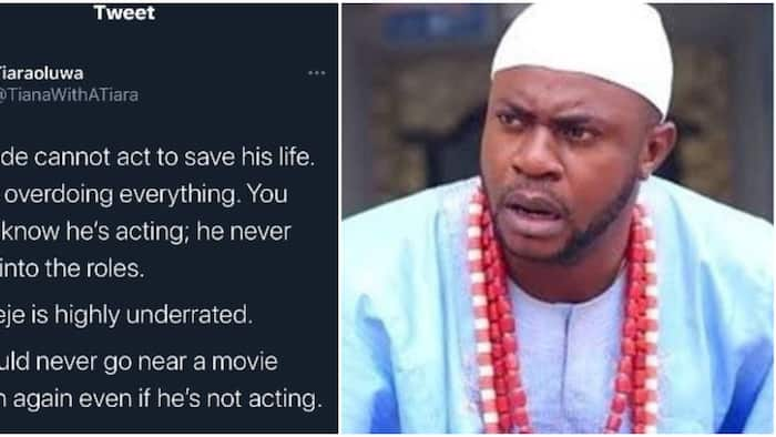 He is the reason we watch Yoruba films: Fans react as lady says Odunlade Adekola cannot act
