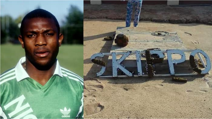Nigerians react as man posts picture of how late Stephen Keshi's grave looks like (photo)