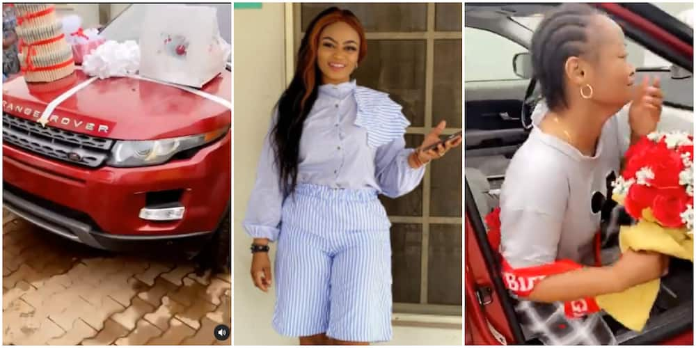 See the moment husband surprises his wife with a new car for her birthday