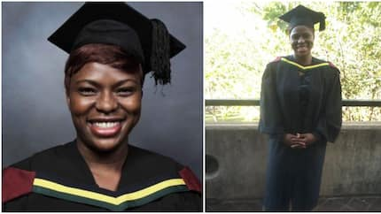 See cute photos of lady who just graduated as a professional nurse, she was once a domestic worker