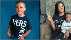 Linda Ikeji shares adorable photos of her son as he clocks 3, changes his surname to hers