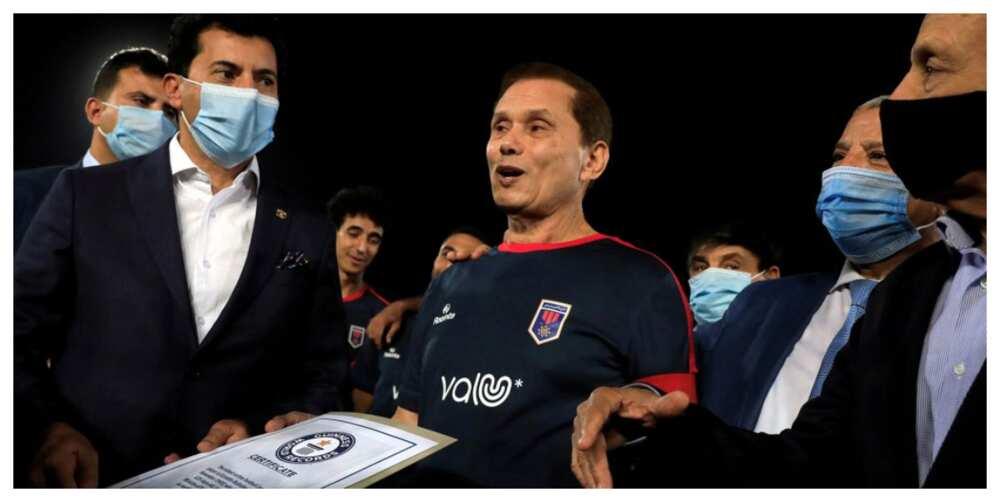 Ezzeldin Bahader, 74, wins Guinness World Record as the oldest professional footballer