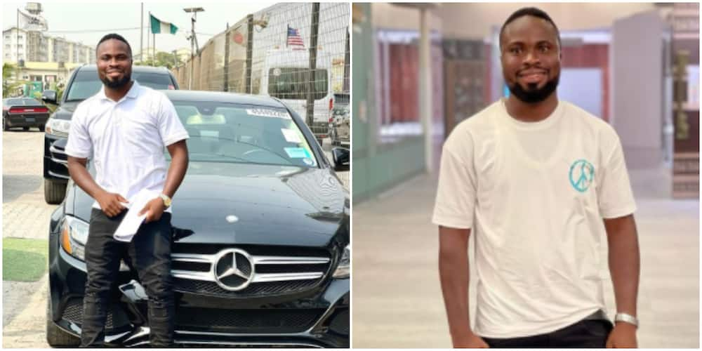 Comedian Sir Balo, buys Benz allegedly worth N16m, 4 weeks after crashing SUV (photo)