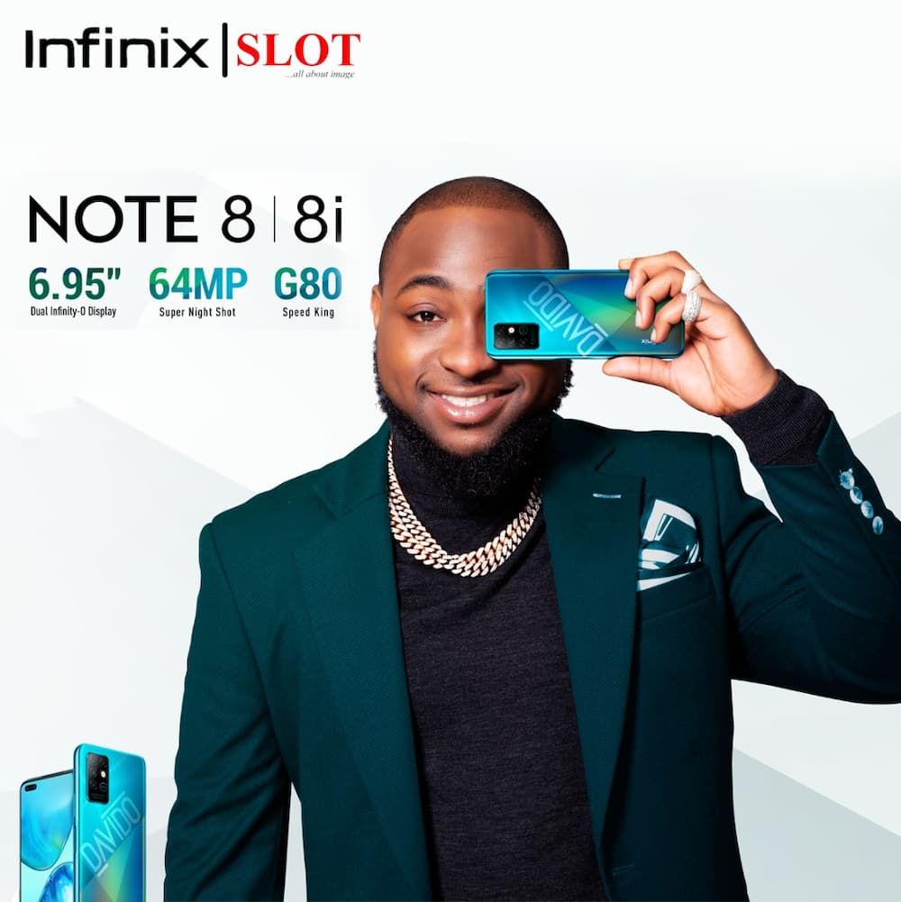 First celebrity Smartphone in Sub Sahara Africa: Davido's special edition of Infinix NOTE 8