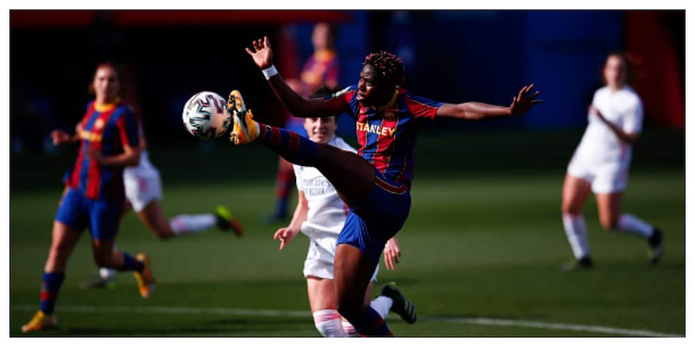 Nigerian striker scores brace in El Clasico as Barcelona crush Real Madrid