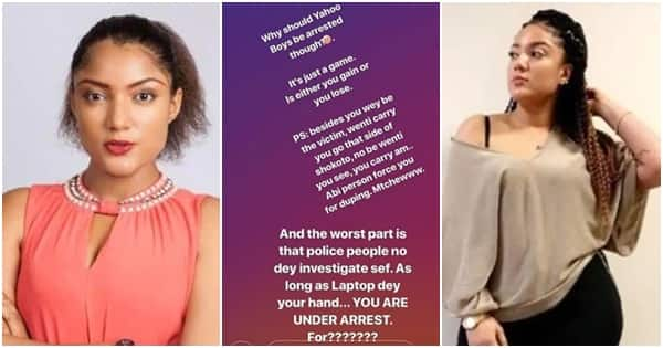 Why should Yahoo boys be arrested? It's just a game - BBNaija Gifty says