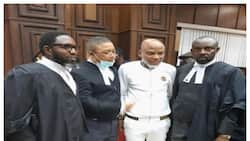 Nnamdi Kanu appears in Versace as Nigerian ex-governor, British envoy arrive court for IPOB leader's trial