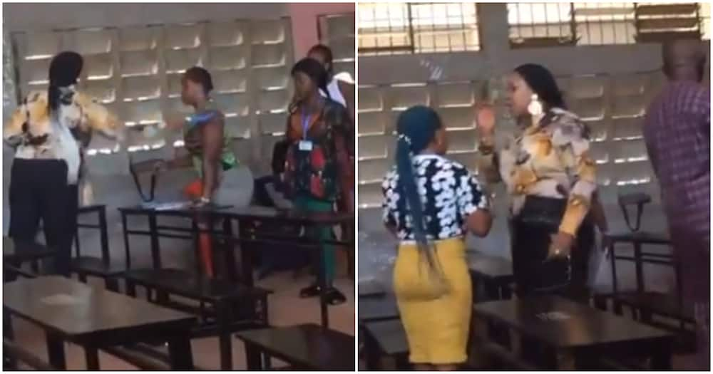 Invigilator reprimands a student for not wearing face mask (video)