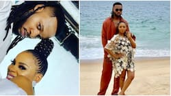 Fans claim singer Chidinma is pregnant for Flavour after seeing photo of them on the beach