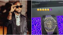 Money spender: Davido splurges millions on new designer wristwatch, shares photo of beautiful timepiece online