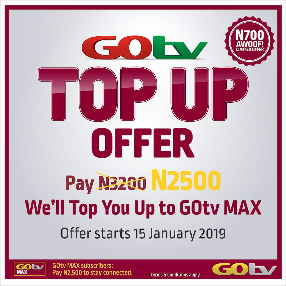 Step up to GOtv Max with the new 'GOtv Top Up' ▷ Legit ng
