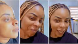 See my pointed nose: Laura Ikeji finally gets work done on her nose, shows it off online