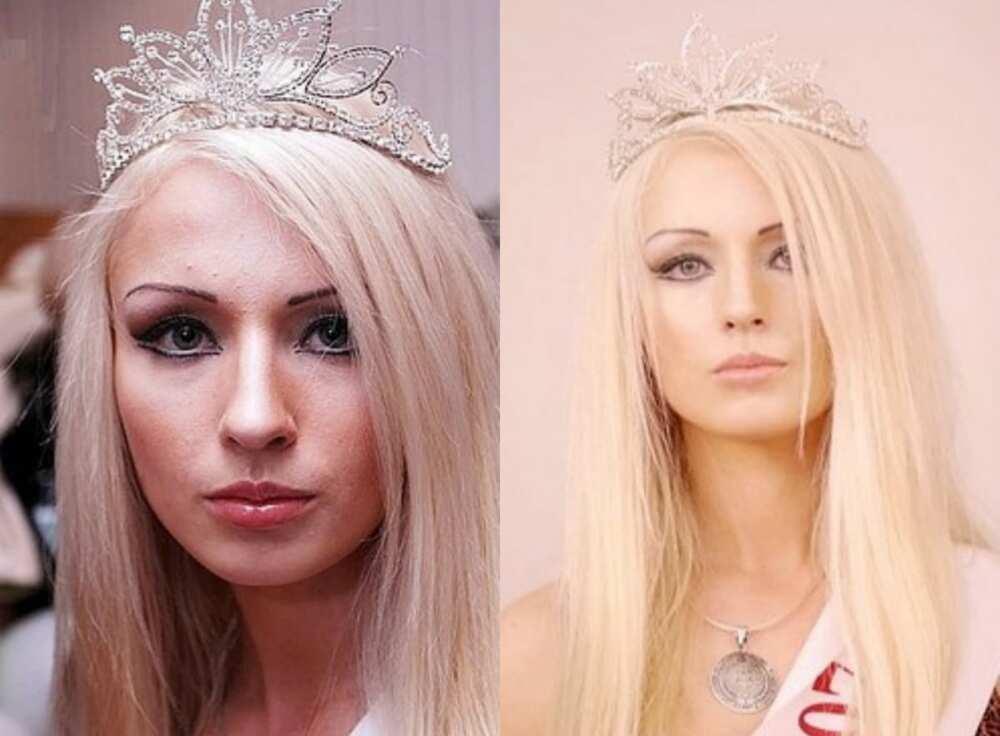 Valeria Lukyanova before
