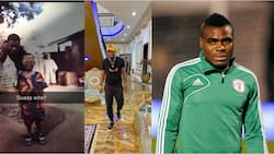 Super Eagles legend who built hospital for his people shares picture of humble beginning and new mansion