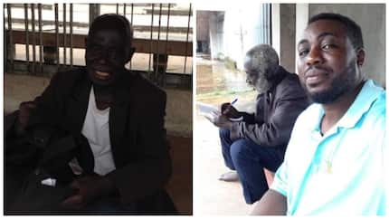 Kindhearted Nigerian man comes to the aid of an aged, sick and homeless Ghanaian man