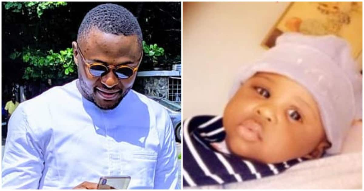 Ubi Franklin shows off his South African babymama and their adorable child