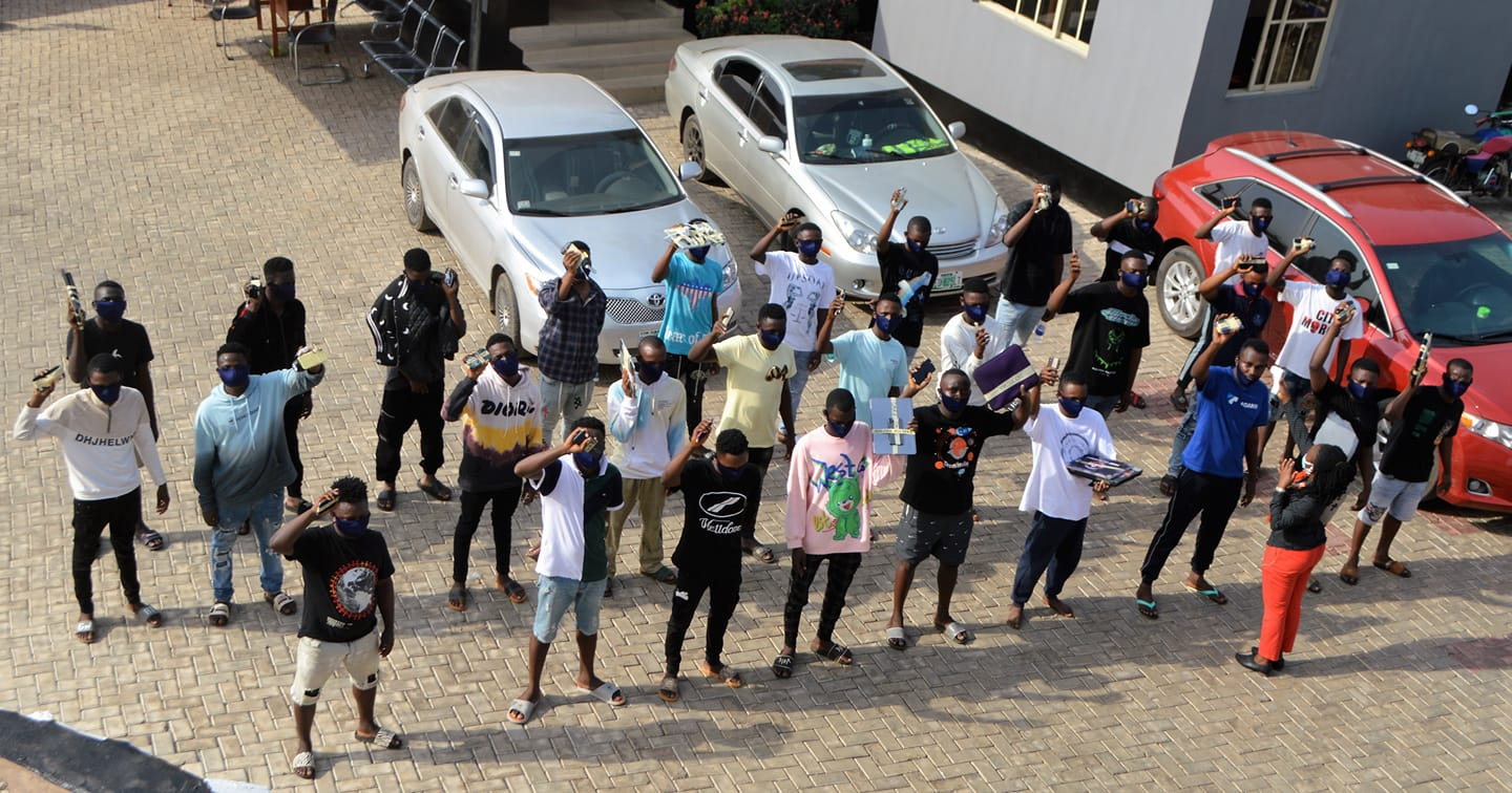 Image result for EFCC Raids 39 Suspected Yahoo Boys Arrested In Osun And Ogun