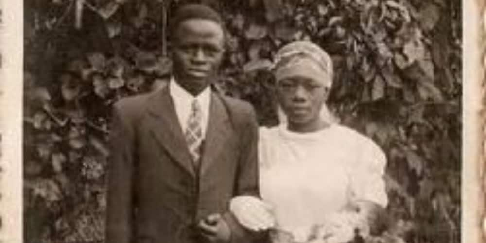 Adorable photo of 1st white wedding in Igede-Ekiti emerges, social media reacts