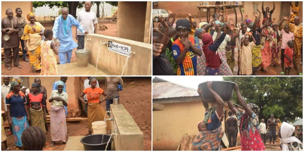 Villagers Jump for Joy as They get Borehole Water for the First Time, Their Reactions Cause Huge Stir