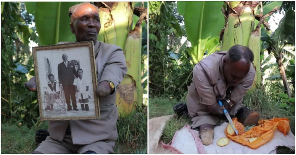 Meet 66-year-old farmer with no arms and feet but can slice a pineapple like a pro