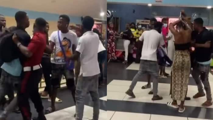 Drama as man asks lady to pull clothes he bought for her in public after seeing lover with another man