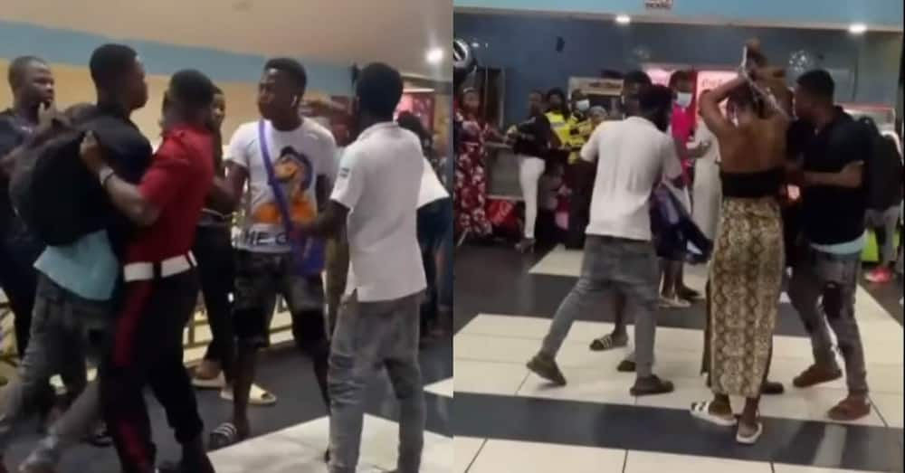 Drama as Man Asks Lady to Pull Clothes he Bought for her in Public after Seeing Lover with another Person