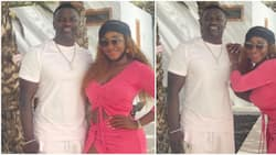 He is getting old: Nigerians react as actress Ini Edo shares photos of moment she met Akon in Cape Verde
