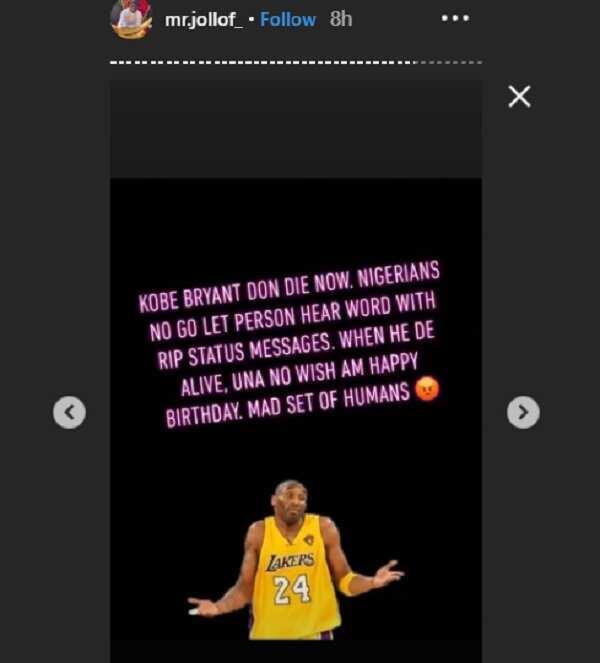 BBNaija's Thelma, Mr Jollof criticize Nigerians mourning Kobe Bryant