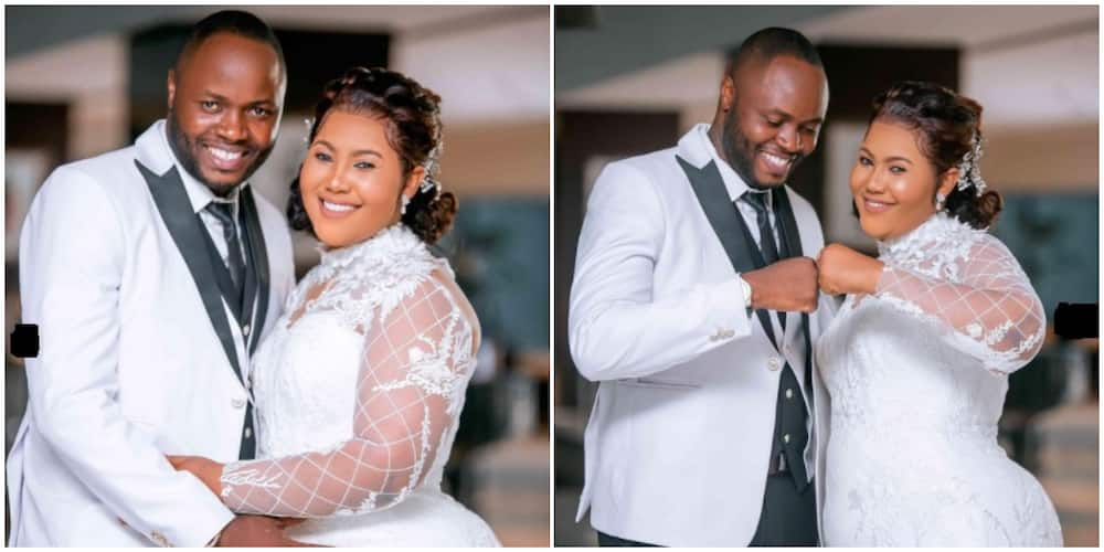 Wedding fashion: Bridesmaids ditch conventional bridal dress for beige pantsuits in trending photos